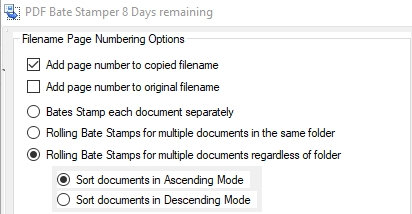 09 VDOCS Bates Stamp File Selection option