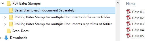 10 VDOCS Bates Stamping each Document Separately