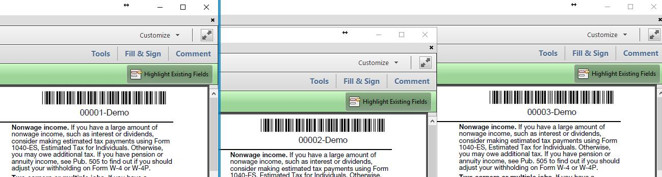 Add Barcode Numbering to PDF files