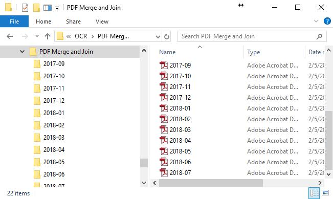 Merged Files in Output Folder
