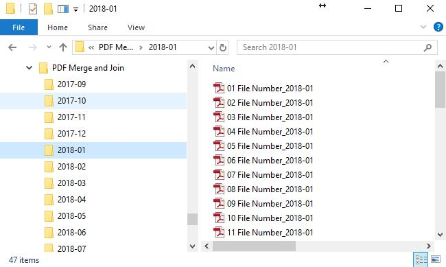 Batch Merge of PDF Files in Sub Folders