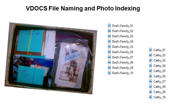 VDOCS Photo Naming Indexing